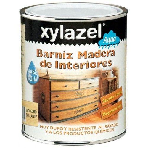BARNIZ XYLAZEL BRILLANTE AL AGUA - 750ML - INCOLORO - INTERIOR