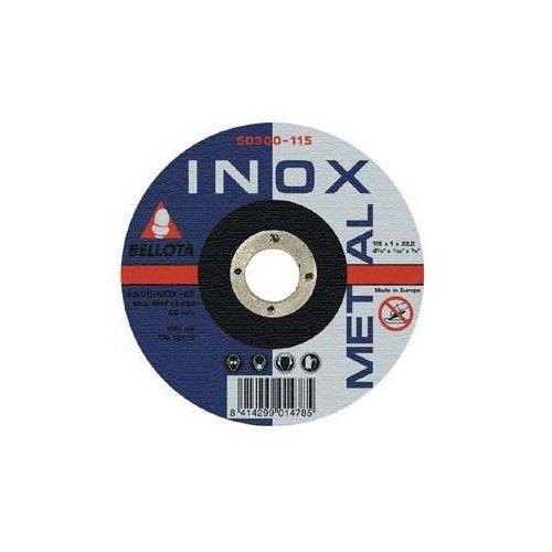 DISCO CORTE AMOLADORA - METAL INOX. 125X1X22,2 - 50.340