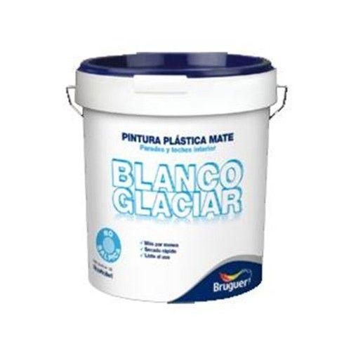 PINTURA PLASTICA BLANCO GLACIAR BRUGUER - 4L BLANCO MATE - INTERIOR - 5208049