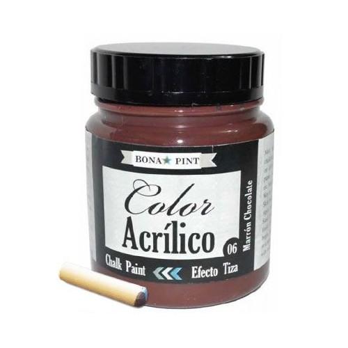 PINTURA EFECTO TIZA BONA-PINT - ACRILICA 200CC Nº06 MARRON CHOCOLATE - 57506