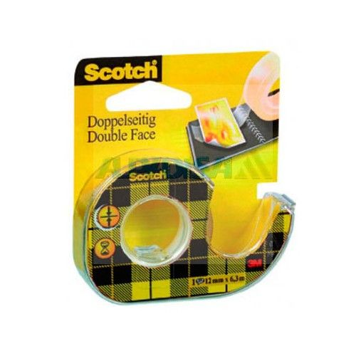 CINTA DOBLE CARA SCOTCH - 12MMX6MTRS. - CON DISPENSADOR - 136D