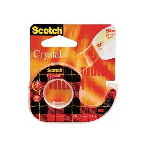 CINTA CRYSTAL SCOTCH - 19MMX7.5MTRS. - CON DISPENSADOR - 6-1975D