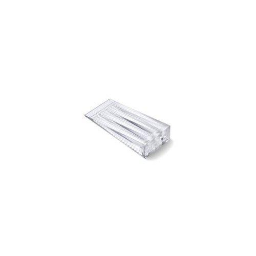 CUÑA PLASTICO BRINOX - TRANSPARENTE - MEDIANA 66X30X15MM