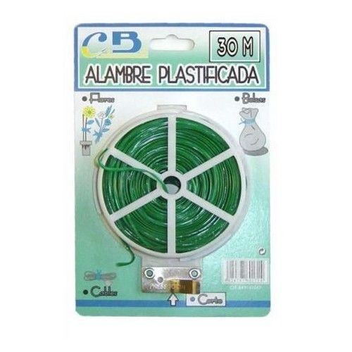ALAMBRE PLASTIFICADO RIEGOLUX   - 30 METROS VERDE
