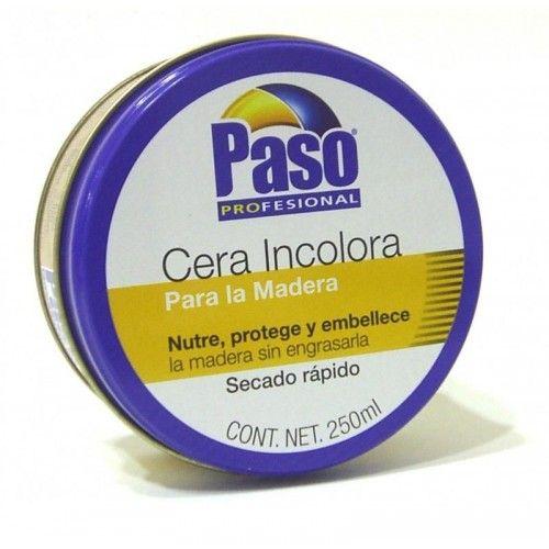 CERA INCOLORA PASO - 250ML - MADERA