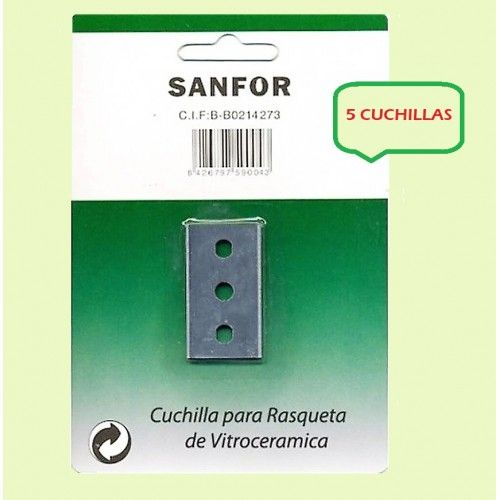CUCHILLA RECAMBIO SANFOR - VITROCERAMICA  5 UNIDADES