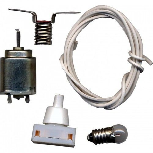 KIT MANUALIDADES COLEGIO  - MOTOR/INTERRUPTOR/CABLE/LAMPARAS R-997