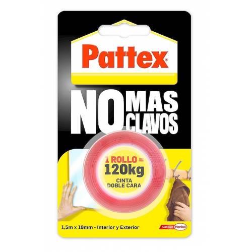 CINTA DOBLE CARA NO MAS CLAVOS - 1.5M X 19MM - 120KG.