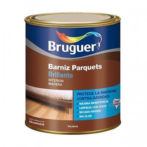 BARNIZ PARQUETS BRILLANTE BRUGUER - 1000 INCOLORO - 750ML