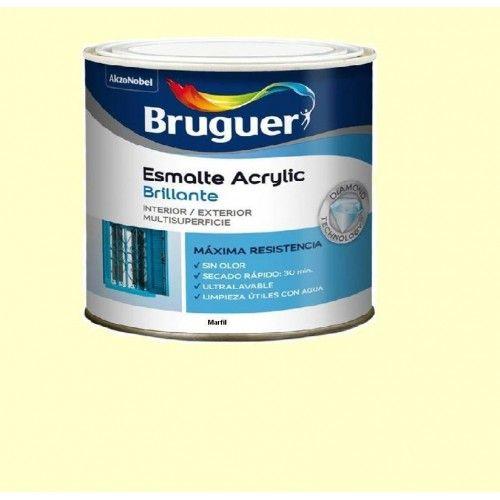 ESMALTE ACRILICO BRILLO BRUGUER - 1003 MARFIL-750ML
