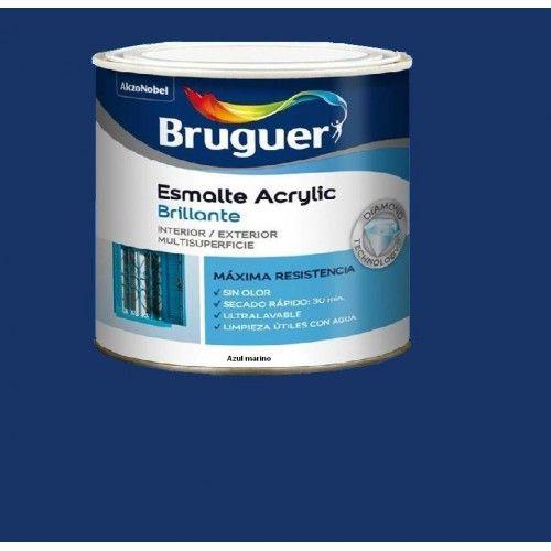 ESMALTE ACRILICO BRILLO BRUGUER - 1014 AZUL MARINO - 250 ML