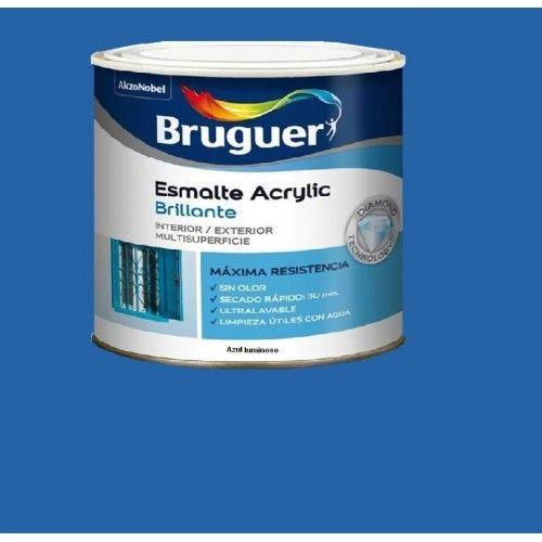 ESMALTE ACRILICO BRILLO BRUGUER - 1015 AZUL LUMINOSO-750ML