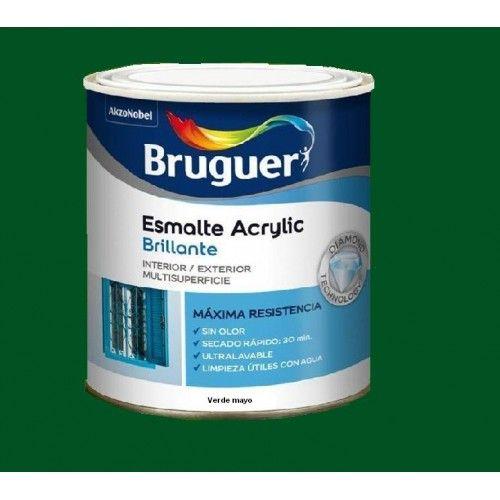 ESMALTE ACRILICO BRILLO BRUGUER - 1022 VERDE MAYO - 250 ML