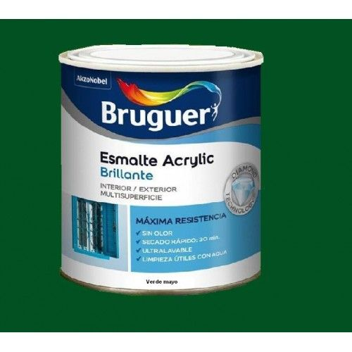 ESMALTE ACRILICO BRILLO BRUGUER - 1022 VERDE MAYO-750ML