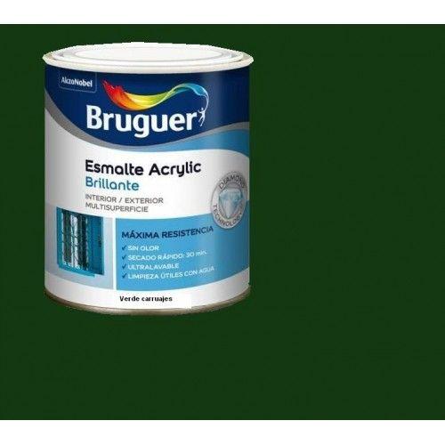 ESMALTE ACRILICO BRILLO BRUGUER - 1023 VERDE CARRUAJES-750ML
