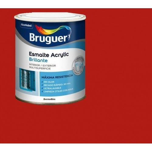 ESMALTE ACRILICO BRILLO BRUGUER - 1026 BERMELLON-750ML