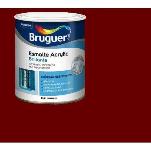ESMALTE ACRILICO BRILLO BRUGUER - 1029 ROJO CARRUAJES - 250 ML