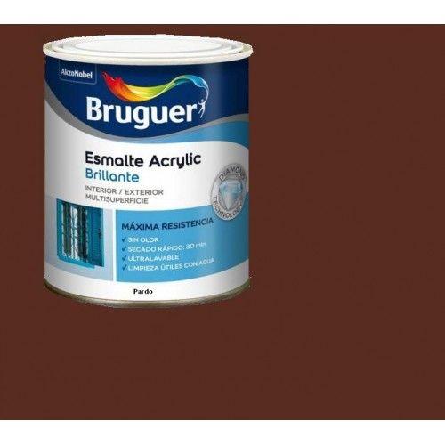 ESMALTE ACRILICO BRILLO BRUGUER - 1033 PARDO - 250 ML