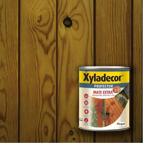 XYLADECOR PROTECTOR MATE 3 EN 1 - NOGAL 750ML