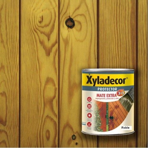 XYLADECOR PROTECTOR MATE 3 EN 1 - ROBLE 375ML
