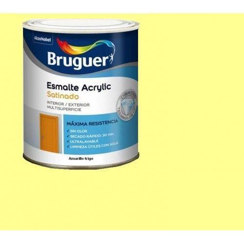 ESMALTE ACRILICO SATINADO BRUGUER - 1541 AMARILLO TRIGO-750ML