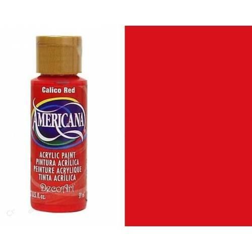 AMERICANA ACRILICO MATE 60CC DA020 - CALICO RED (TRANSPARENTE)