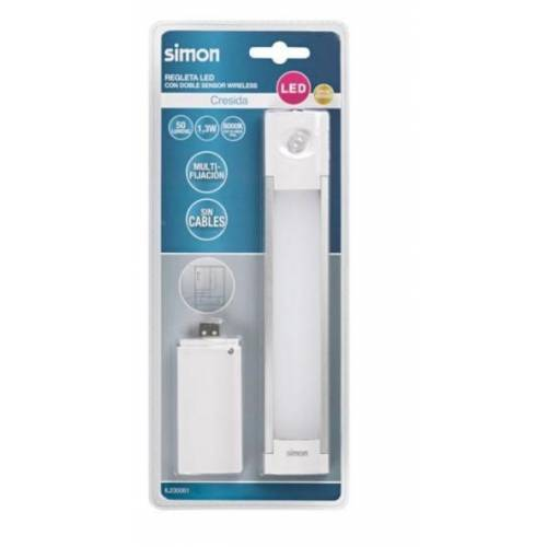 REGLETA LED SIMON CRESIDA - 1.3W/50LM - LUZ 6000K - 280MM