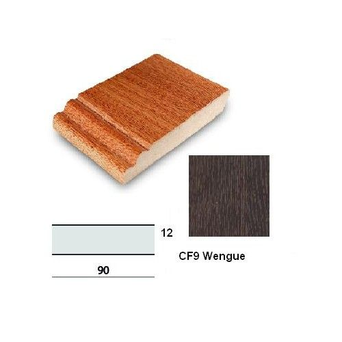 RODAPIE WENGUE - BP - 90X12MM LARGO 244CM CANTO RECTO