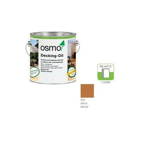 OSMO ACEITE DECKING - 009 ALERCE - 0.125L