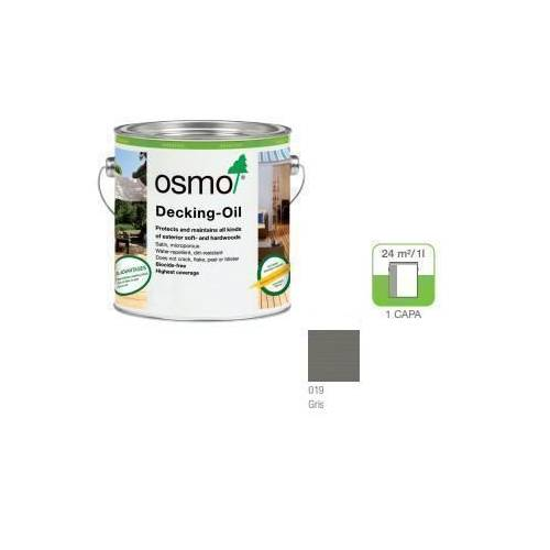 OSMO ACEITE DECKING - 019 GRIS - 0.125L