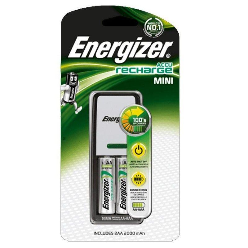 CARGADOR PILAS ENERGIZER - MINI CHARGER + 2PILAS AAA