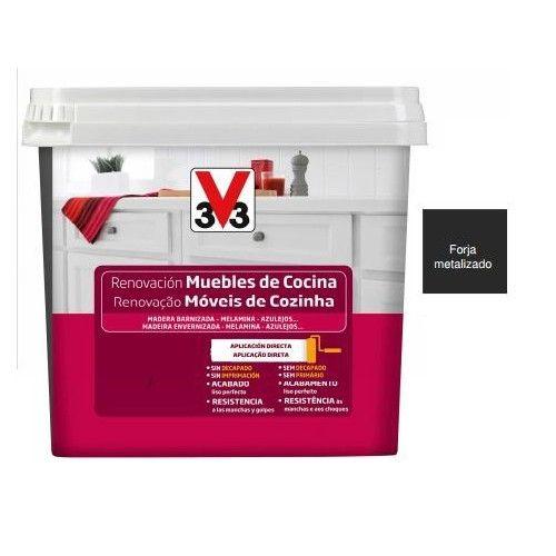 RENOVACION MUEBLES COCINA V33 - 750ML FORJA METALIZADO