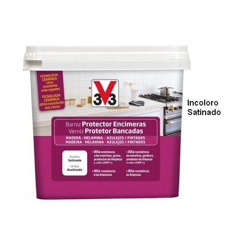 BARNIZ PROTECTOR ENCIMERAS V33 - INCOLORO SATINADO - 500ML