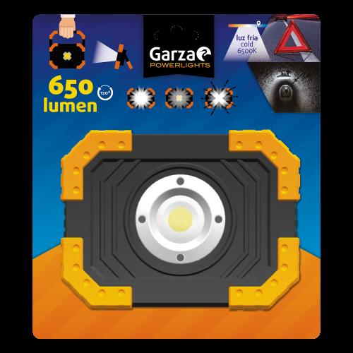 LINTERNA PROYECTOR LED GARZA - 6500K - 650 LM -  4XAA NO INCLUIDAS