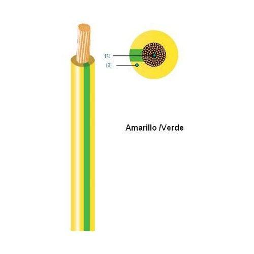 CABLE HILO LINEA FLEXIBLE H07V-K - 1.5MM AMAR/VERDE ROLLO 25 METROS