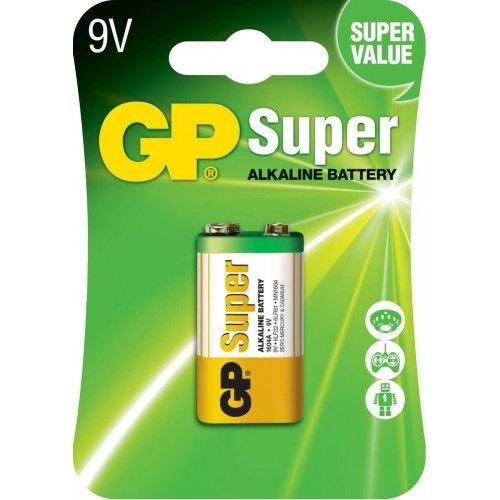 PILA GP ALKALINA - 6LR61-LR09 (BLISTER 1 UNIDAD)