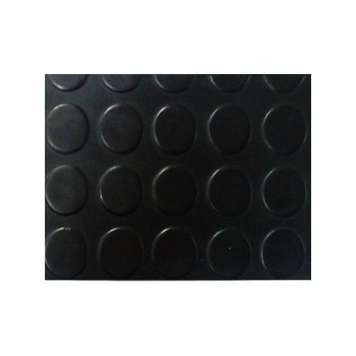 ESTRIBERA GOMA CIRCULOS 3MM - NEGRA X M2 (ancho 1,20m)