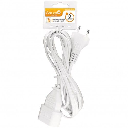 PROLONGADOR CABLE GARZA - 3 METROS BLANCO - 2X1MM