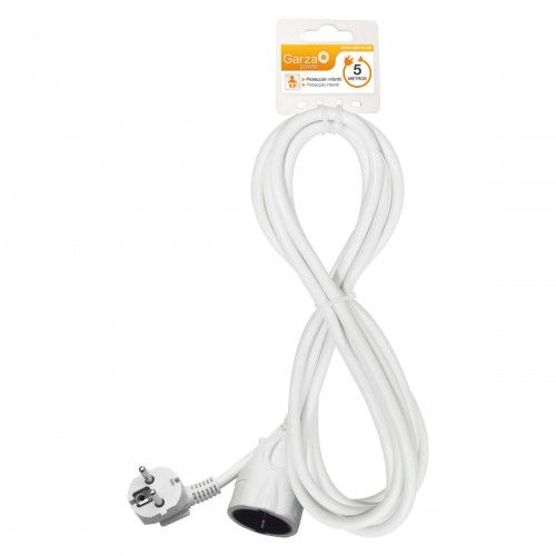 PROLONGADOR CABLE GARZA - 5 METROS BLANCO - 3X1.5MM