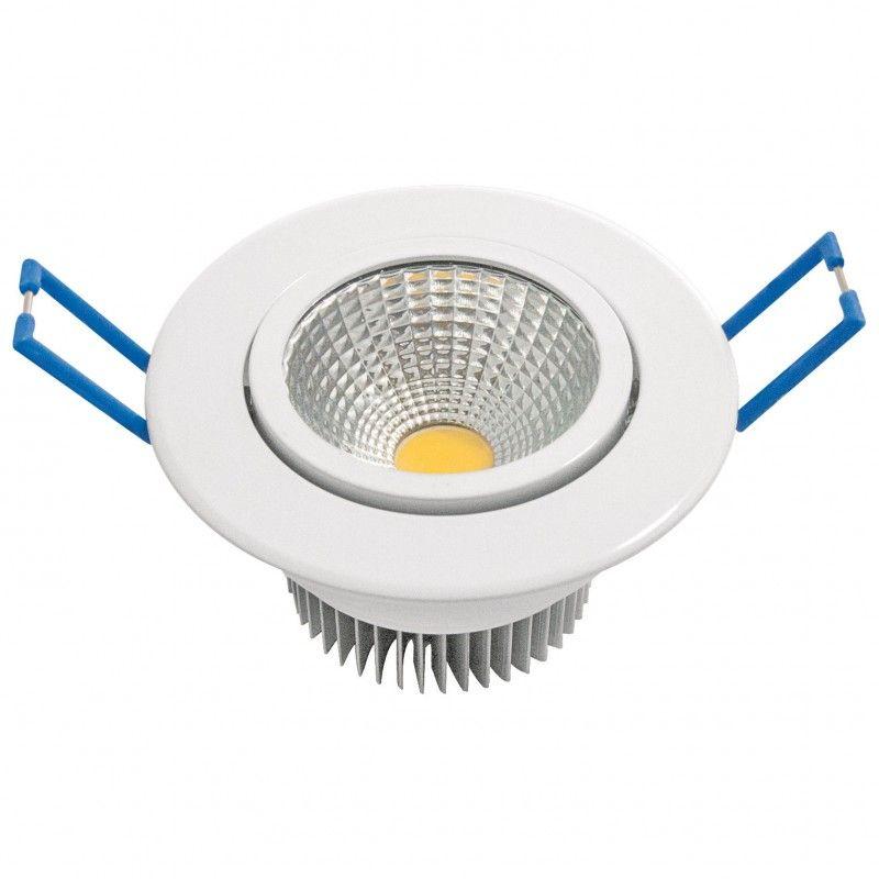 DOWNLIGHT LED GARZA BLANCO COB - 7W - 3000K LUZ CALIDA - 600LM