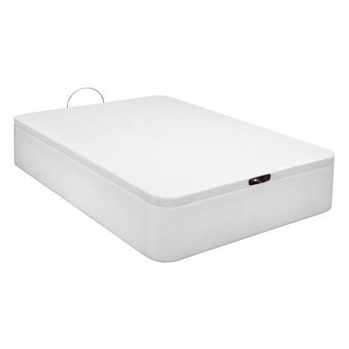 Canapé Tapizado en Polipiel apertura frontal color Blanco 180x190