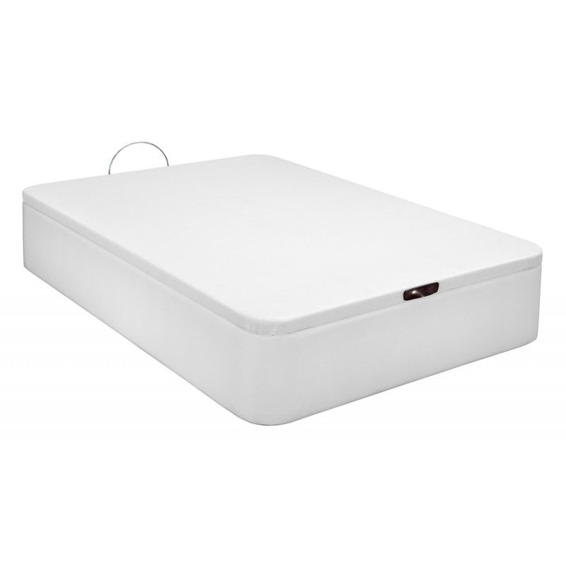 Canapé Tapizado en Polipiel apertura frontal color Blanco 180x200