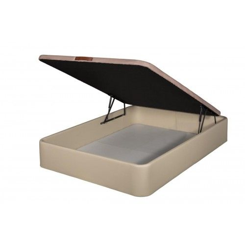 Canapé Tapizado en Polipiel apertura frontal color Beige 135x200 partido