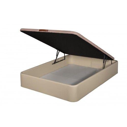 Canapé Tapizado en Polipiel apertura frontal color Beige 160x180 partido