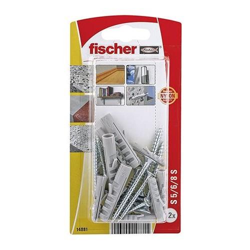 TACO FISCHER  S 5/6/8 S - SURTIDO DE TACOS Y TORNILLOS