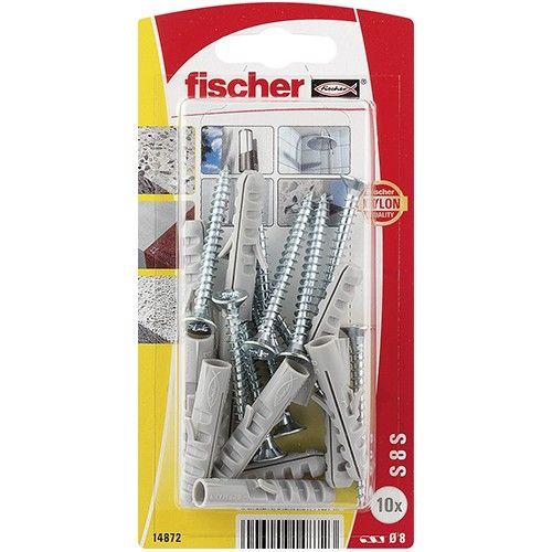 TACO FISCHER  S 8 S - 10 TACOS Y 10 TORNILLOS