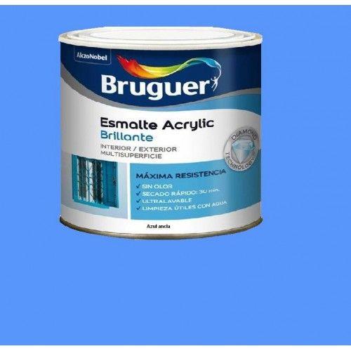 ESMALTE ACRILICO BRILLO BRUGUER - 1013 AZUL ANCLA - 250 ML