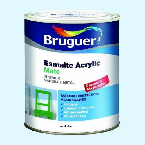 ESMALTE ACRILICO MATE BRUGUER - 1713 AZUL CLARO-750ML