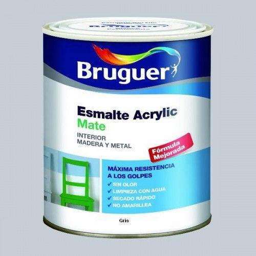 ESMALTE ACRILICO MATE BRUGUER - 1758 GRIS-750ML