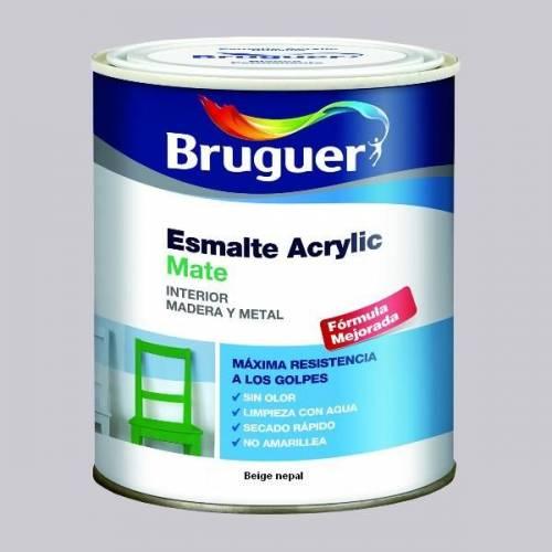 ESMALTE ACRILICO MATE BRUGUER - 1760 BEIGE NEPAL-750ML